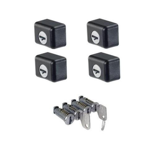 4 conteras antirrobo ST + 4 bombillos