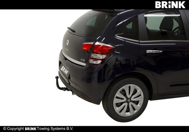Desmontable Barra de remolque Brink Gancho de remolque para Citroen C3 Hatchback 2009-2016